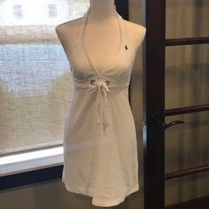 Ralph Lauren Terry Grommet Halter Dress Cover-up
